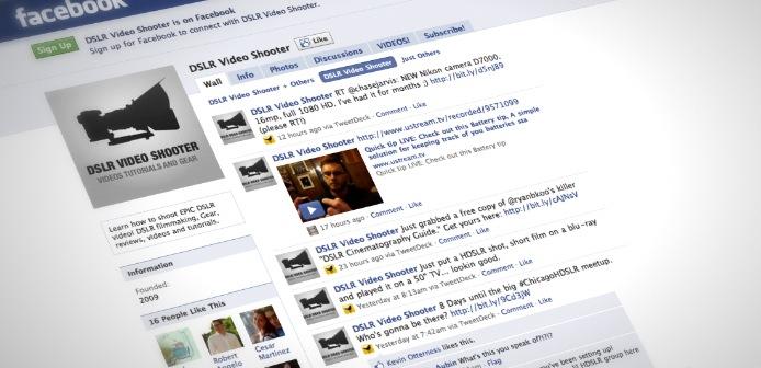 DSLR Video Shooter Now On Facebook