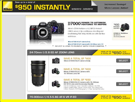 Camera and Lens Rebates!