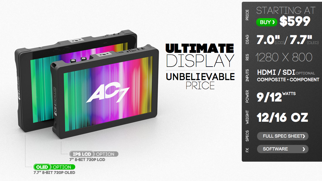 SmallHD AC7 OLED Monitor Now Available