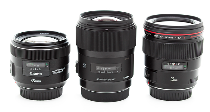 Canon 35mm Lenses