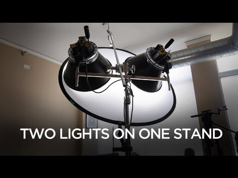 Mounting 2 Lights on 1 Light Stand With a Silk