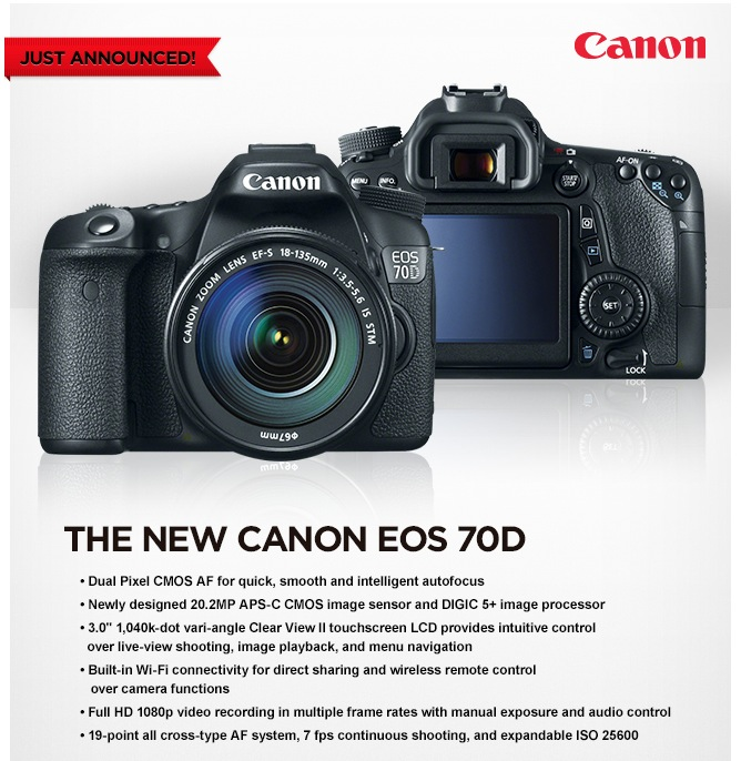 New Canon 70D