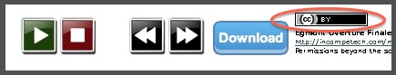 creative commons music button