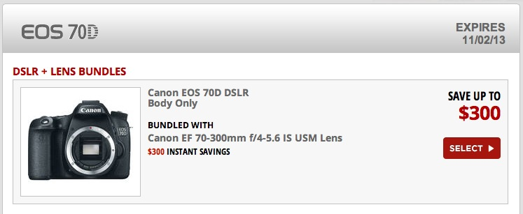 Canon Rebates Are Back With 70D and 60D Deals