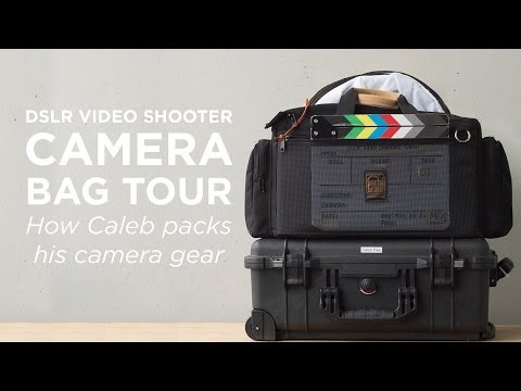 DSLR Video Camera Bag Setup