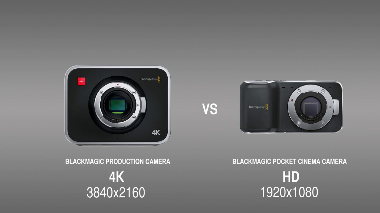 Blackmagic 4K Production Camera vs Pocket Cinema Camera