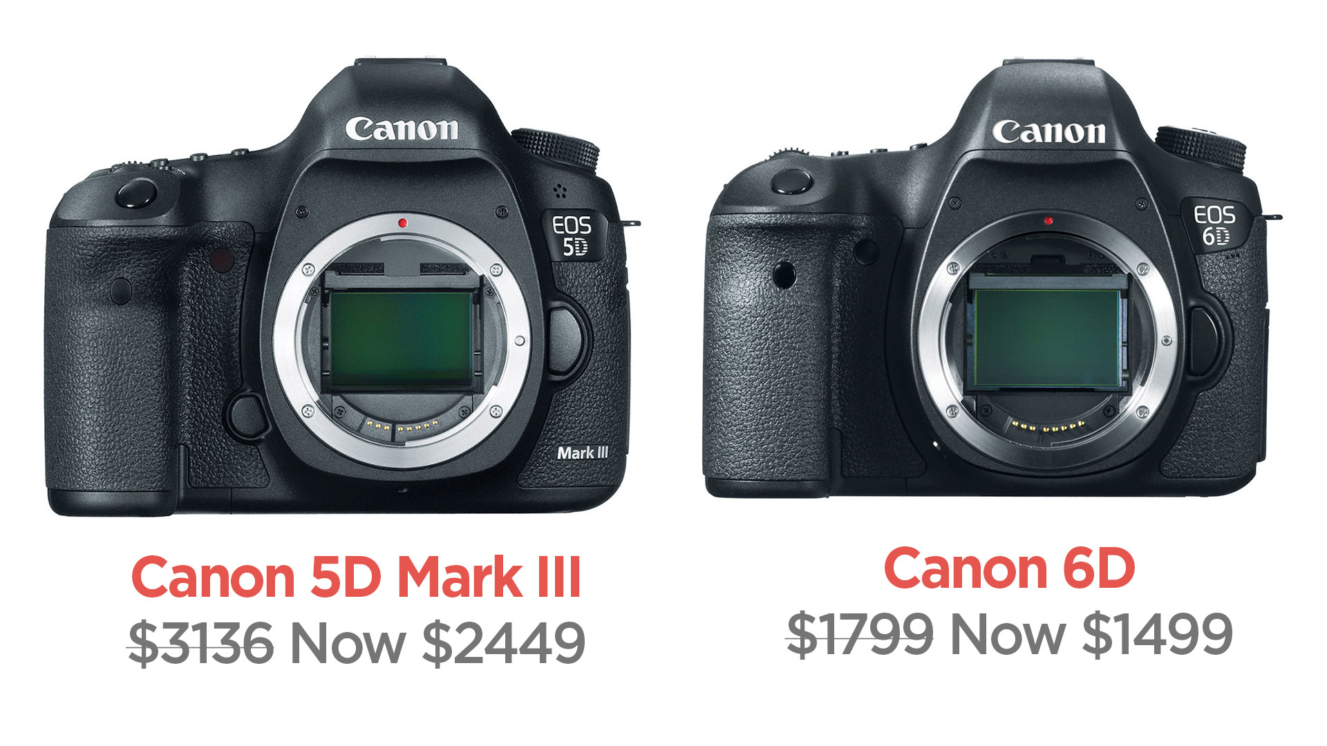 Save Big on the Canon 5D Mark III and 6D