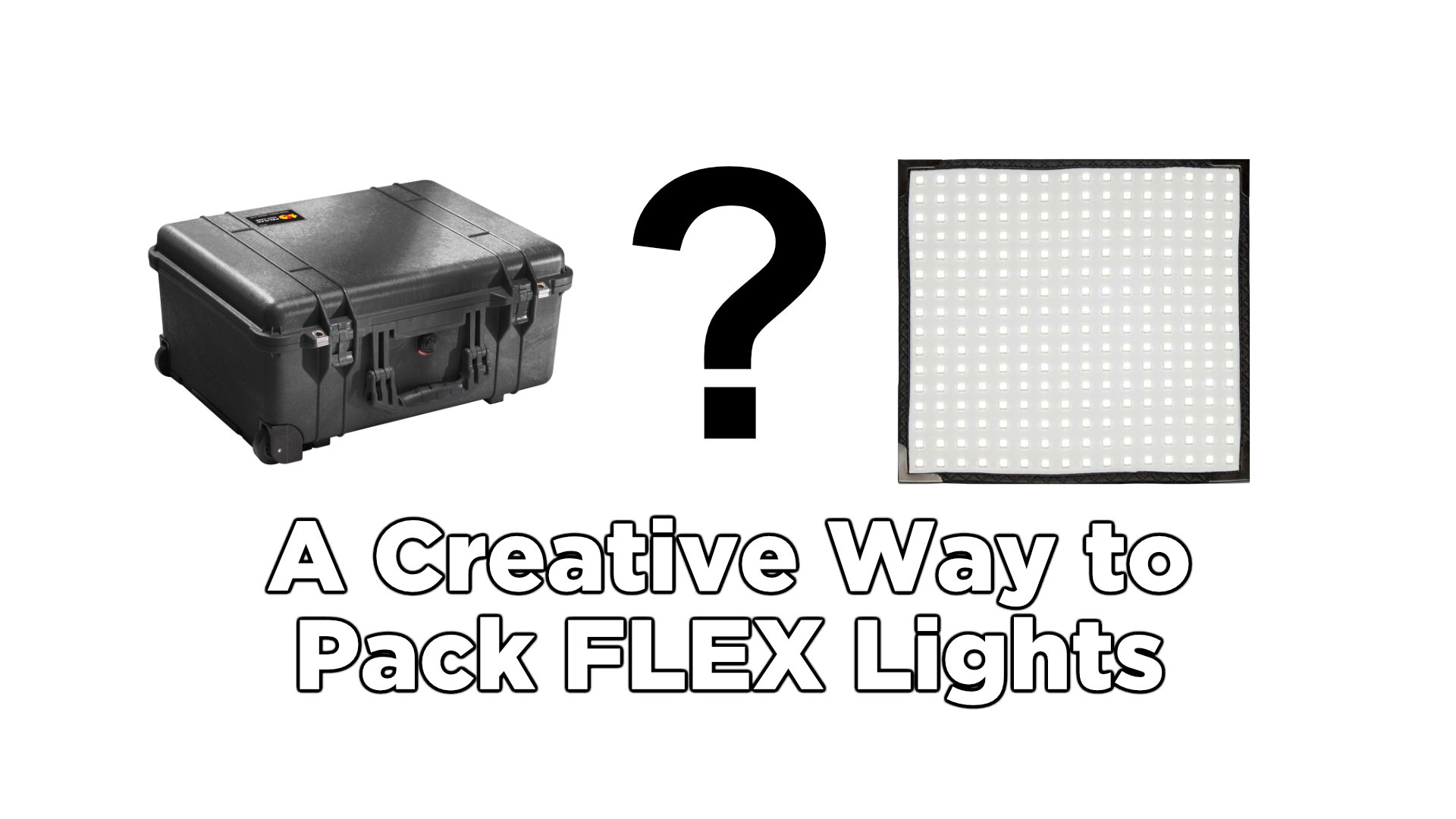 A Creative Way to Pack Flex Lights