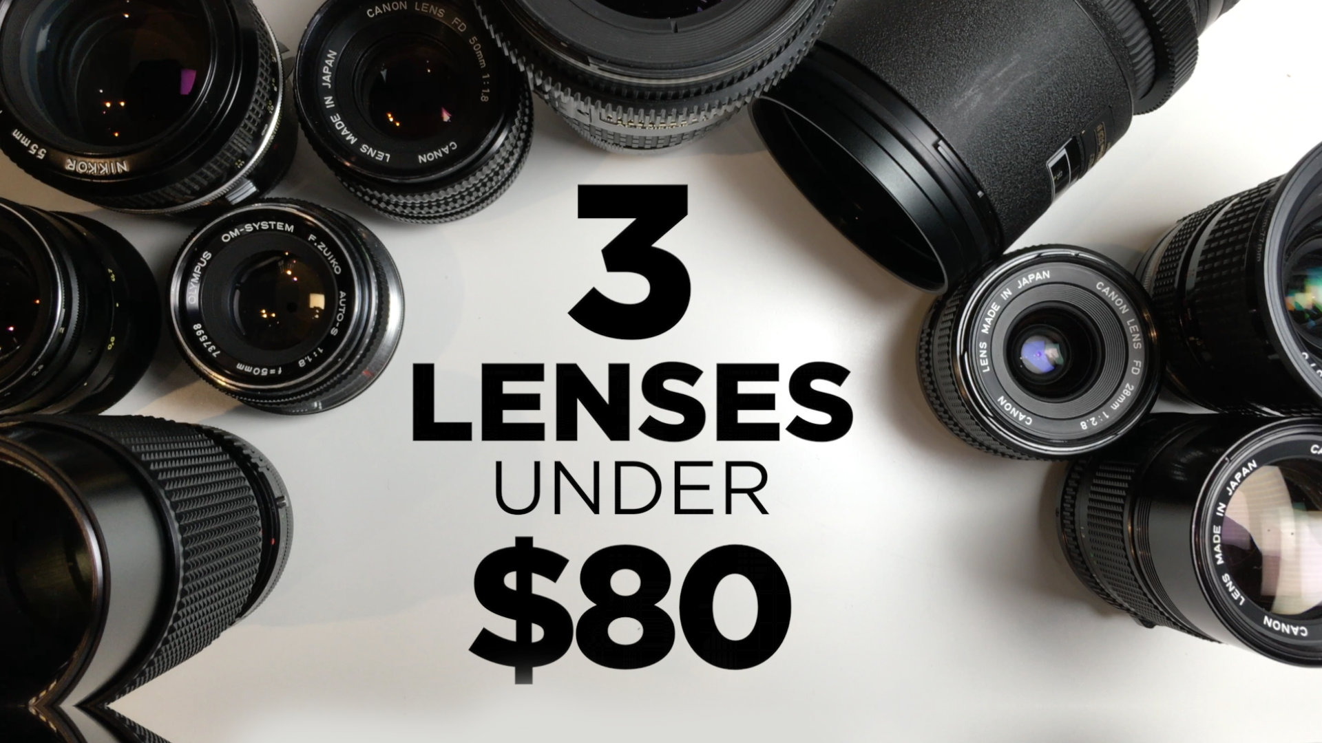 3 Affordable Lenses for Video Under $80
