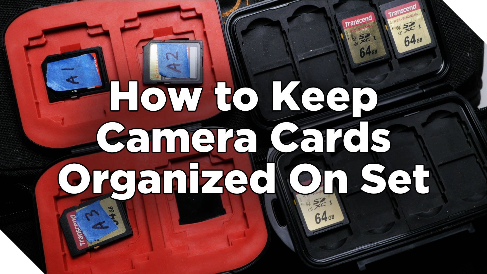How to Keep Camera Cards Organized On Set