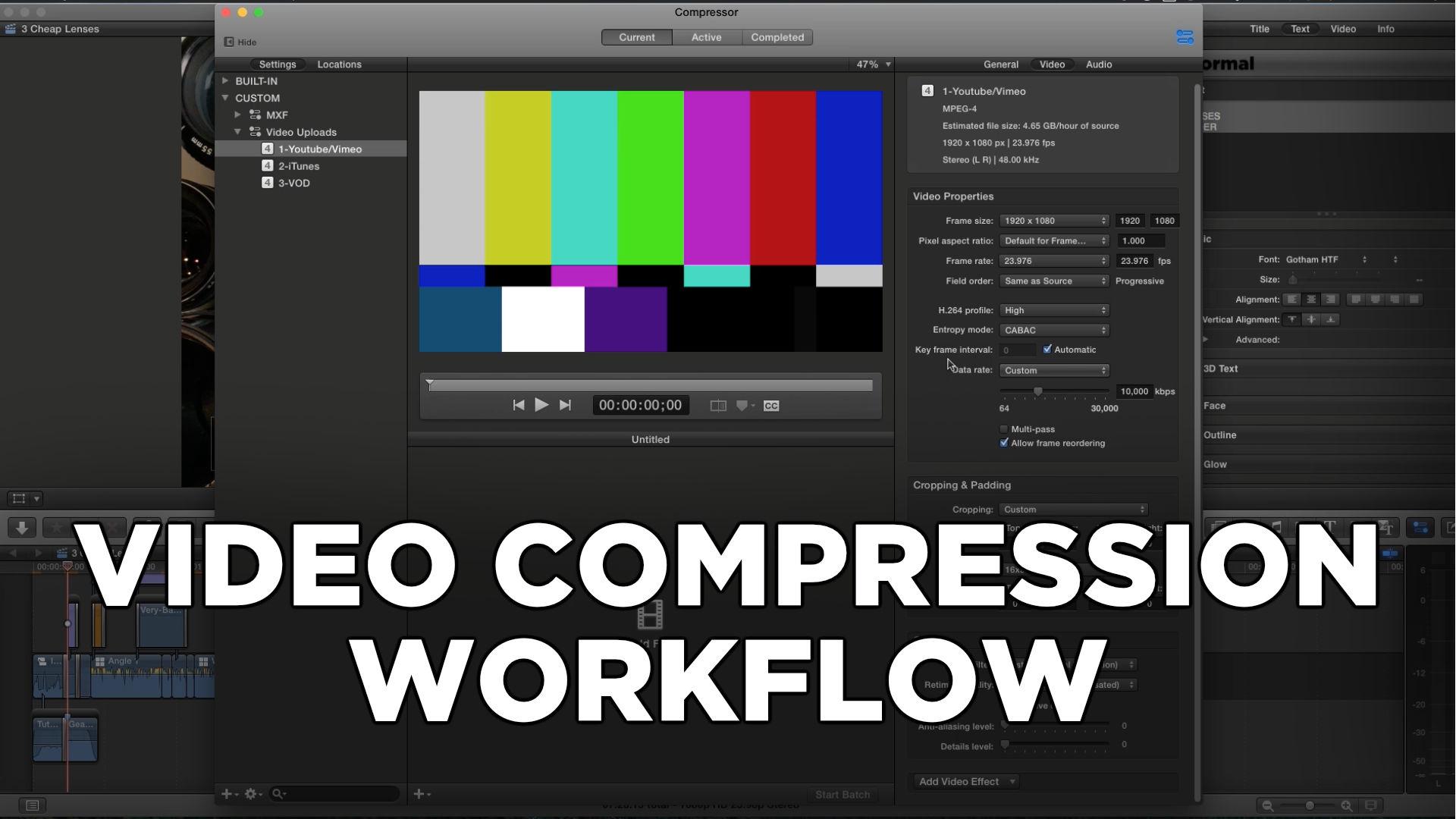 My Video Compression Workflow (FCPX + Compressor)
