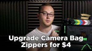 Upgrade Camera Bag Zipper Pulls for $4