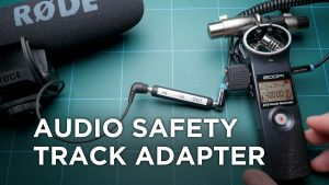 Run and Gun Audio Safety Track Adapter (Attenuator) for Video Cameras