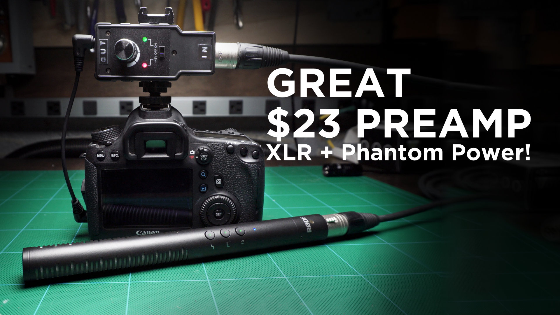 Great $23 Budget Preamp for Video Shooters
