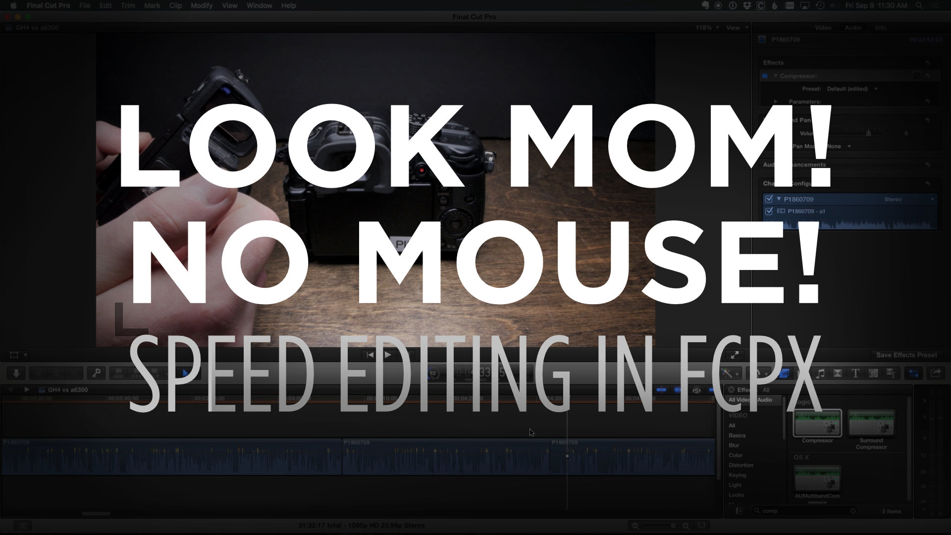 How to Speed Edit in FCPX – Editing Without a Mouse!