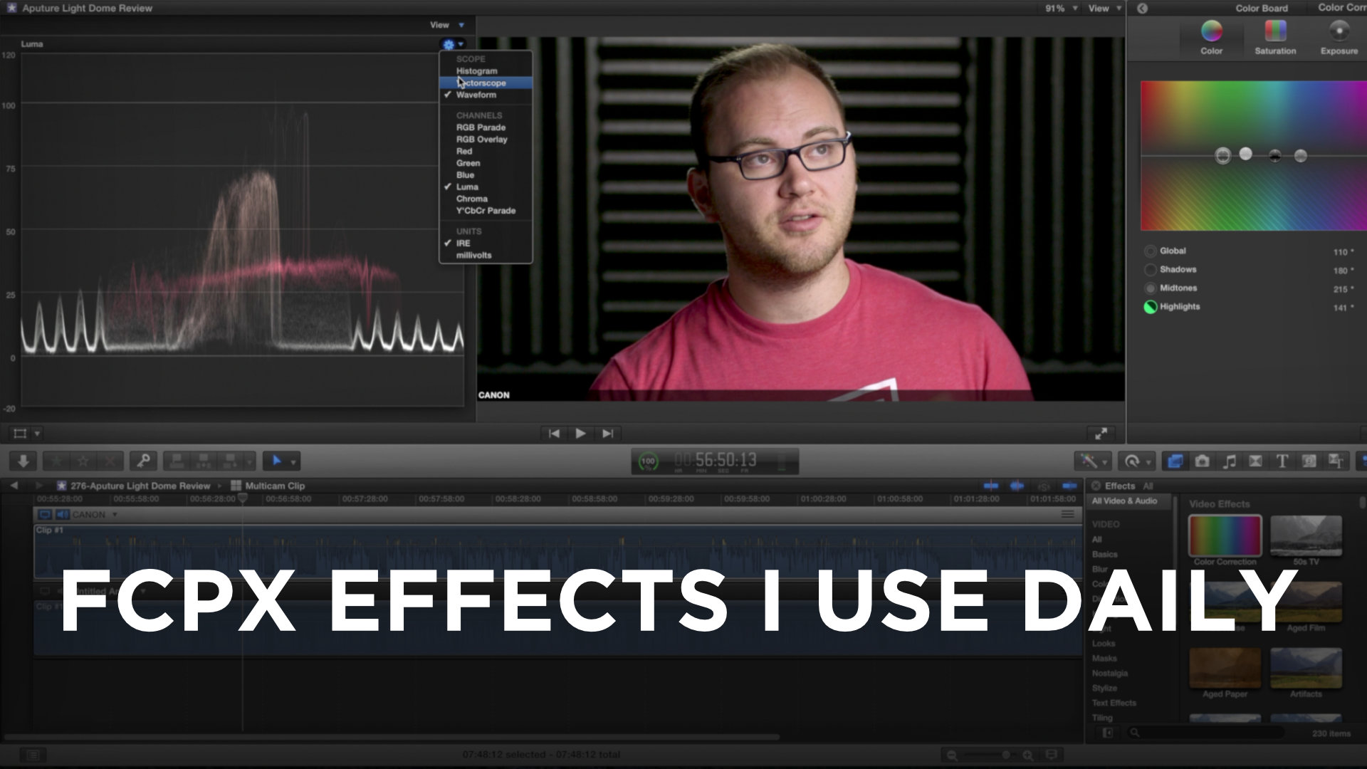 FCPX Effects and Filters I Use Daily