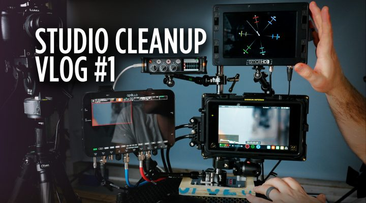 Studio Cleanup VLOG 001 – Monitor Production Cart Build